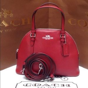 Authentic Coach leather mini Domed Crosby/Satchel